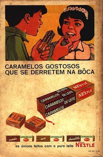 Propaganda dos Caramelos da Nestlé na década de 70.