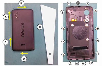 Guide Nexus 5 repair leaks, more information is revealed about the configuration