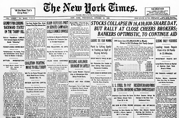 stock market crash 29 Find out what led to the stock market crash of 1929, which in turn fueled the great depression, sparking a nearly 90% loss in the dow.