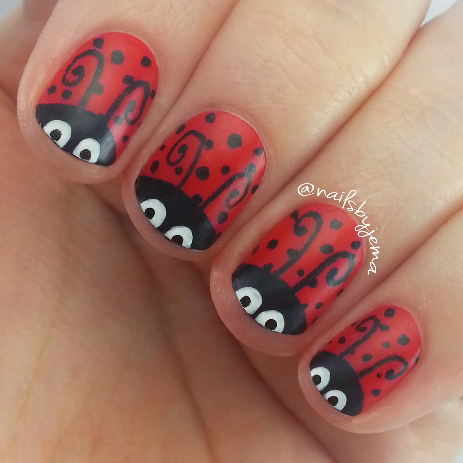 N A I L S B Y J E M A: Ladybug Nails