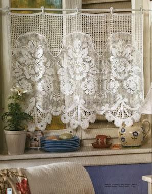 Diseño crochet, cortinas...