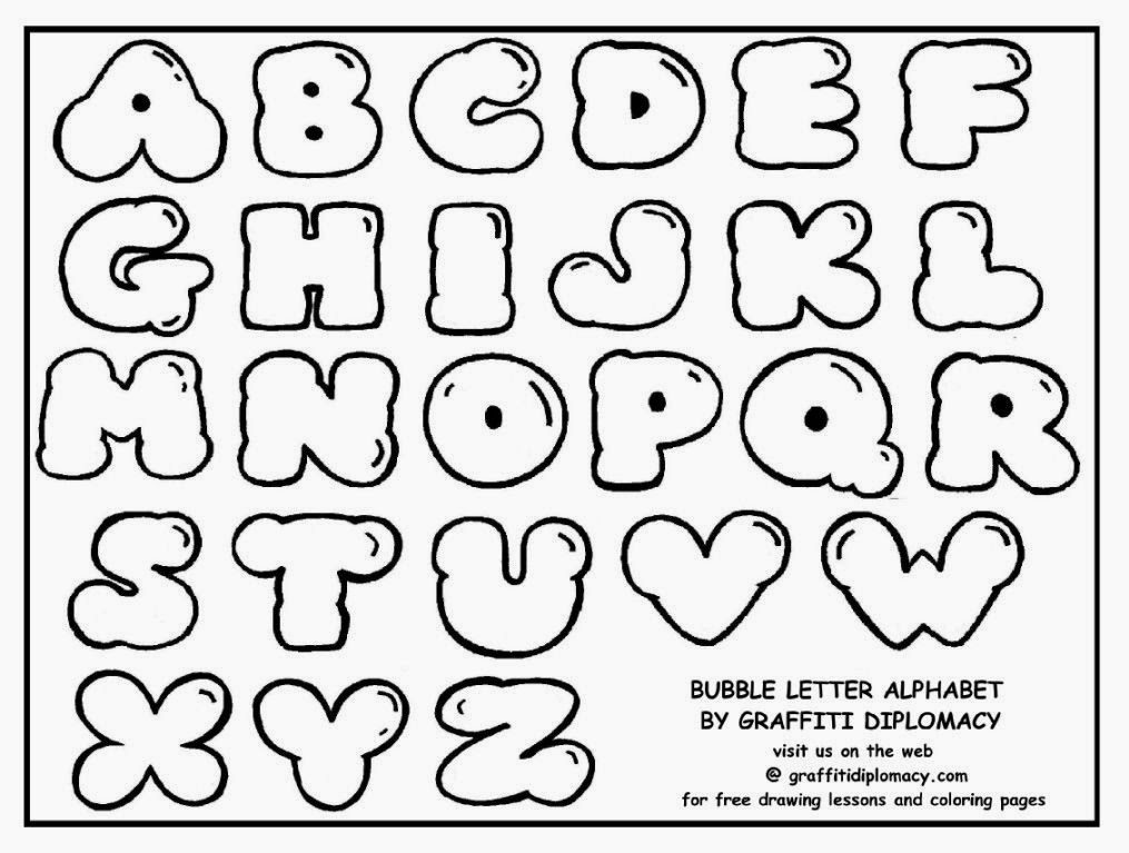 coloring pages of graffiti letters - photo#35