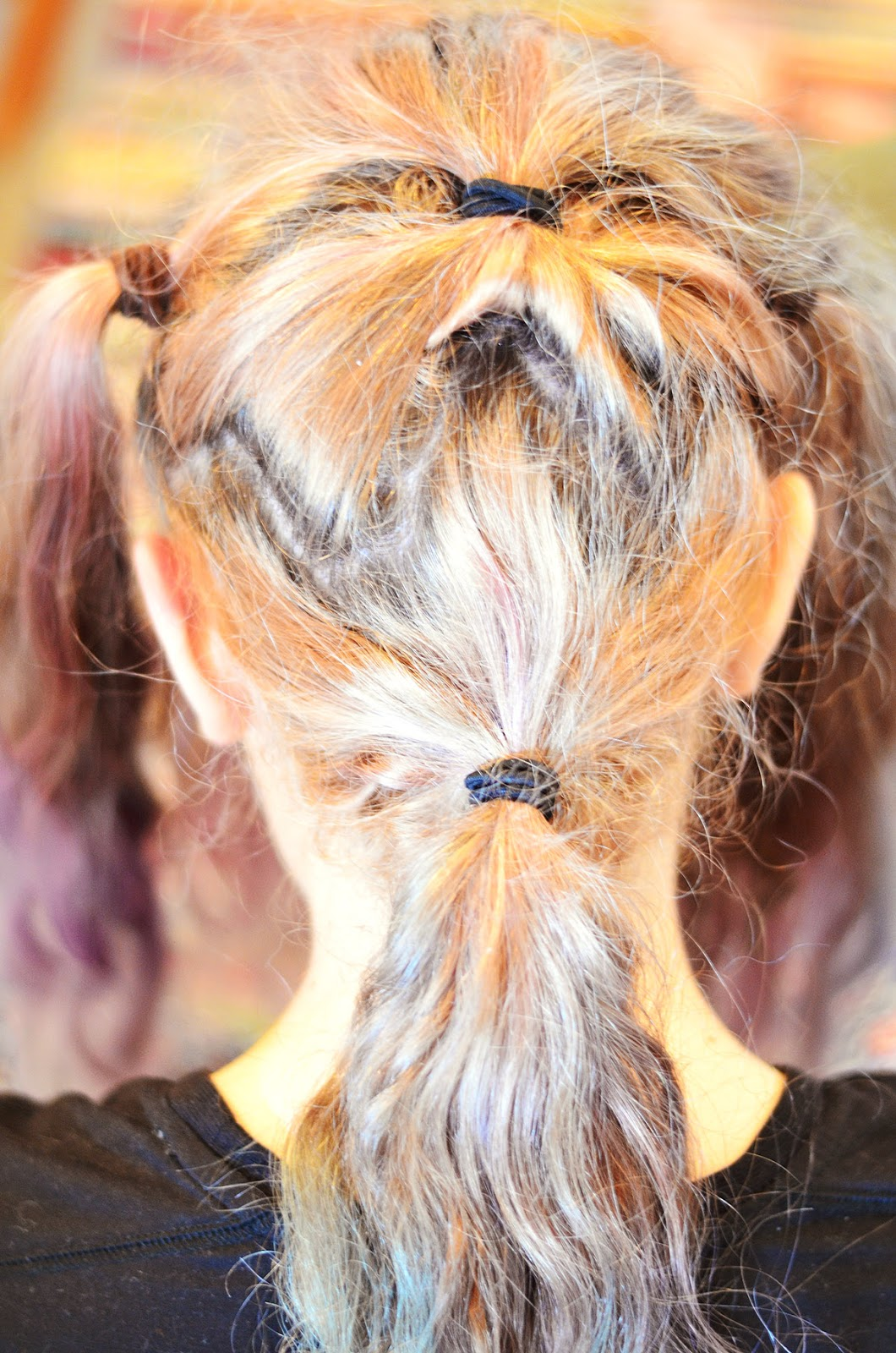 Zigzag hair sectioning