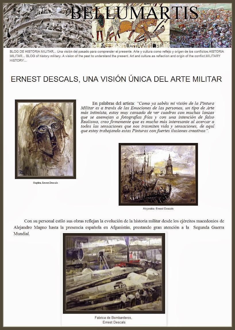 ARTE MILITAR-HISTORIA-PINTURA-ARTE-MILITARY-ART-PAINTINGS-PINTOR-ERNEST DESCALS-BELLUMARTIS