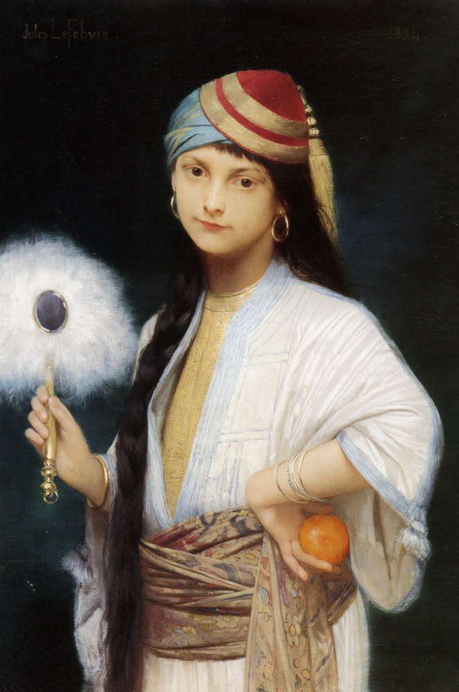Jules Joseph Lefebvre feather fan