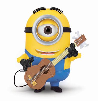 TOYS : JUGUETES - MINIONS  Stuart guitarrista   Muñeco - Figura con guitarra  Producto Oficial Película 2015   Mondo 31005   A partir de 4 años  Comprar en Amazon España