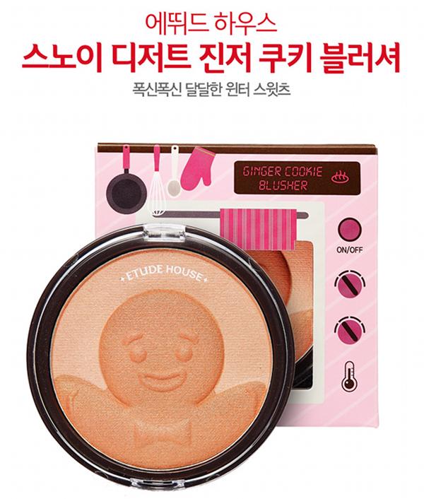 Etude House, Snow Dessert, review, korean beauty, korean makeup, play 101 pencils, swatches, ginger cookie blusher, winter makeup