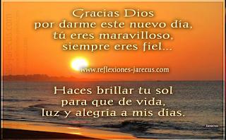 Oración de agradecimiento,