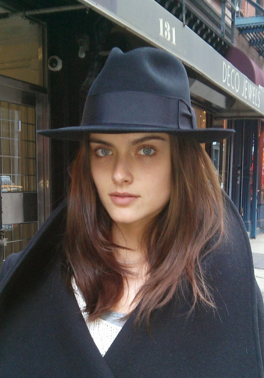 Zuzana Gregorova in new hat from The Hat House NY
