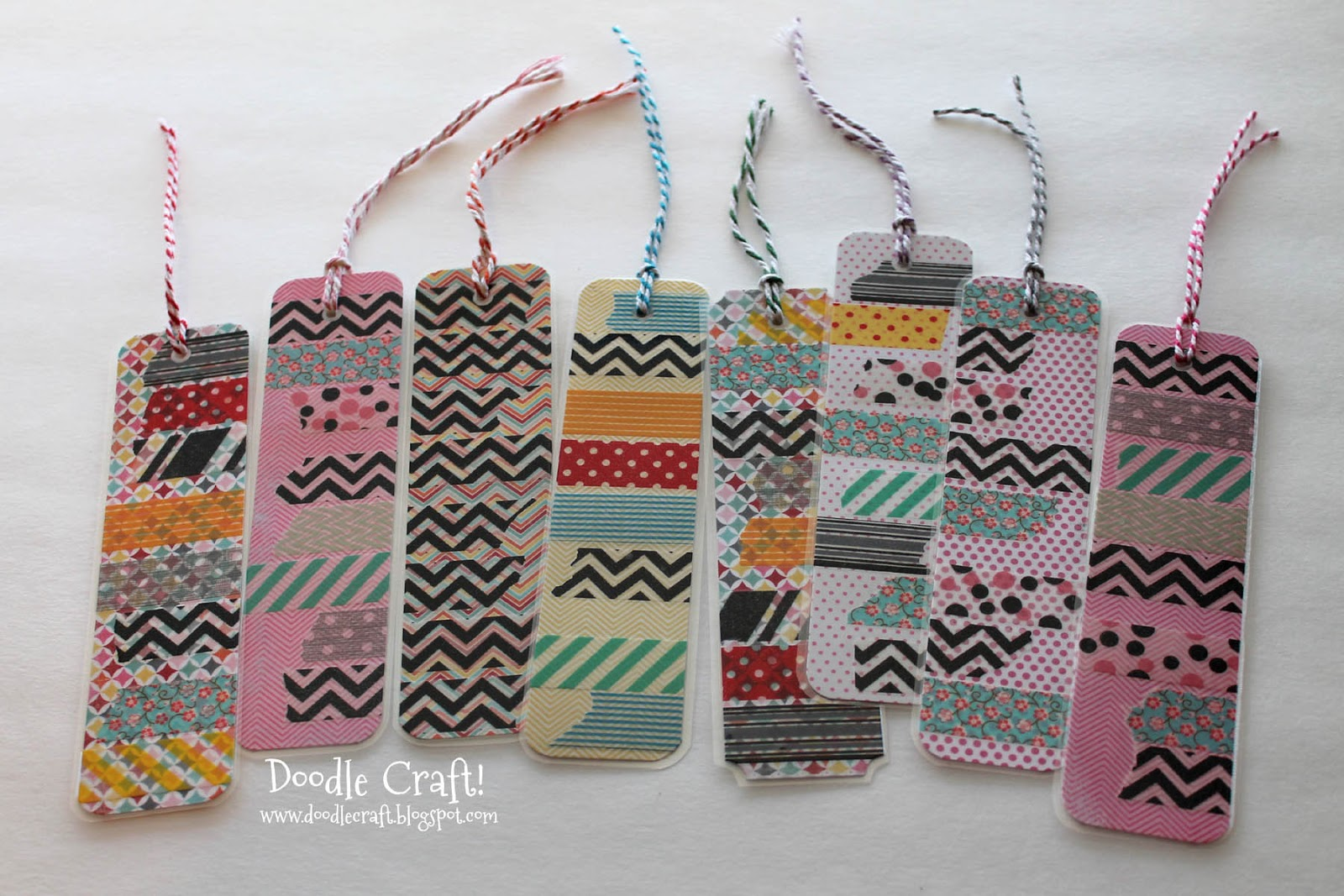 Doodlecraft washi tape bookmarks for Duct tape bookmark ideas