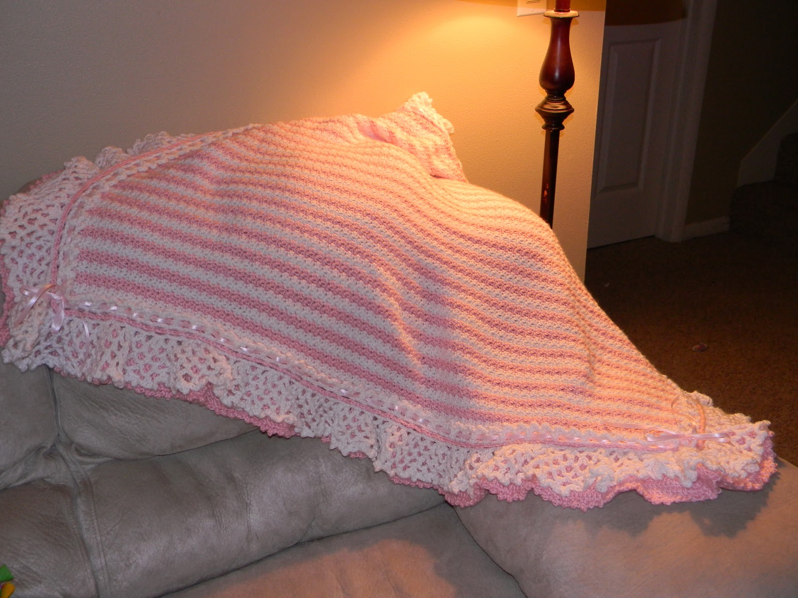 Crocheting Ruffles : Sassys Crafty Creations: Crochet Double Ruffle Baby Girl Blanket