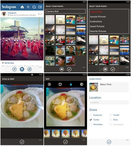 Aplikasi Instagram Windows Phone