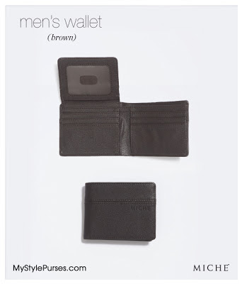 Brown Miche Men's Wallet from MyStylePurses.blogspot.com