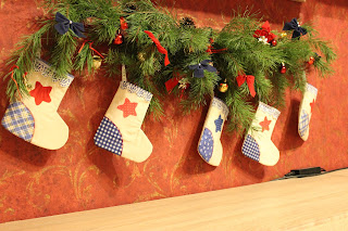 как сделать новогодние носки
