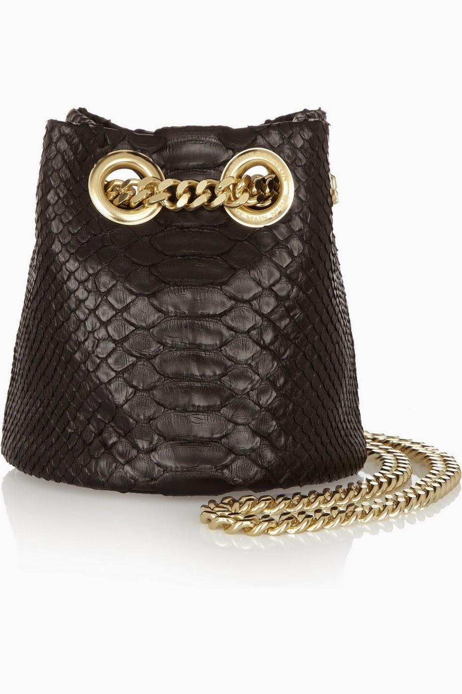 Net-a-Porter FINDS + Delphine Delafon python shoulder bag