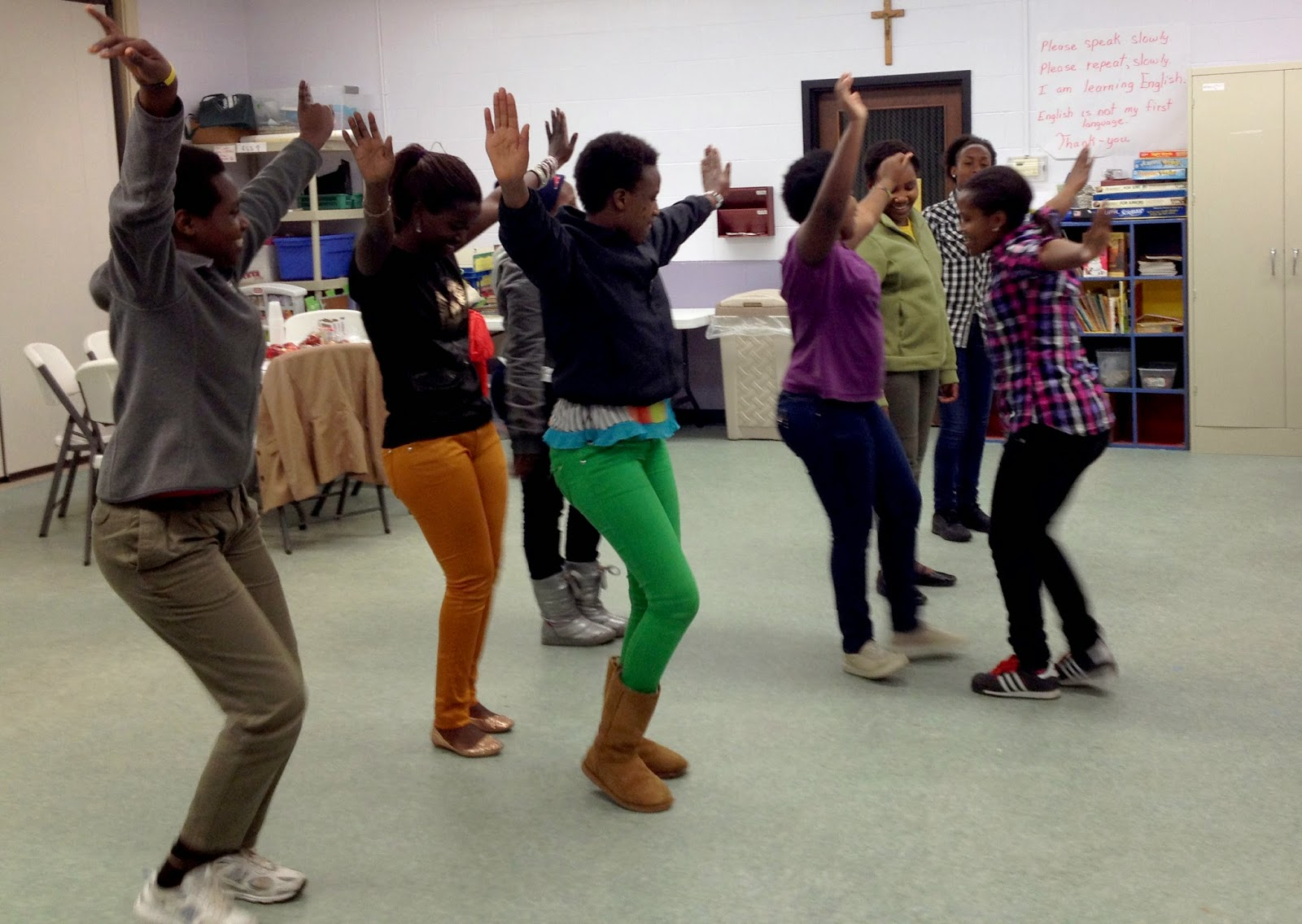 Dancing during New American African's after school program