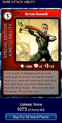 Arrow Assault card at Superhero City