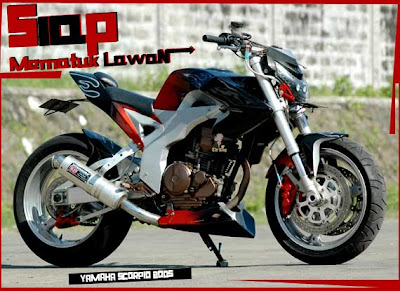 scorpio street fighter modifikasi