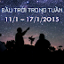 Bầu trời trong tuần từ 11/1 tới 17/1/2015
