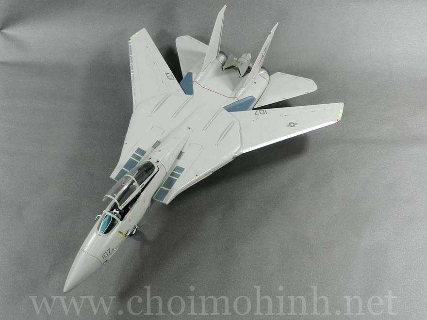 F-14A Tomcat VF-41 Black Aces AJ-107 1:72 Witty Wings front