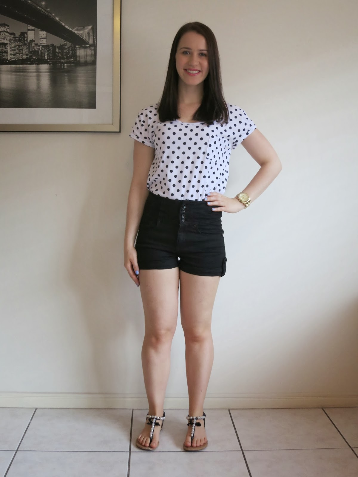 High waisted shorts polka dot t shirt bries petite world high waisted shorts polka dot t shirt urmus Images