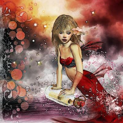 Siren of the Sea Digital Art