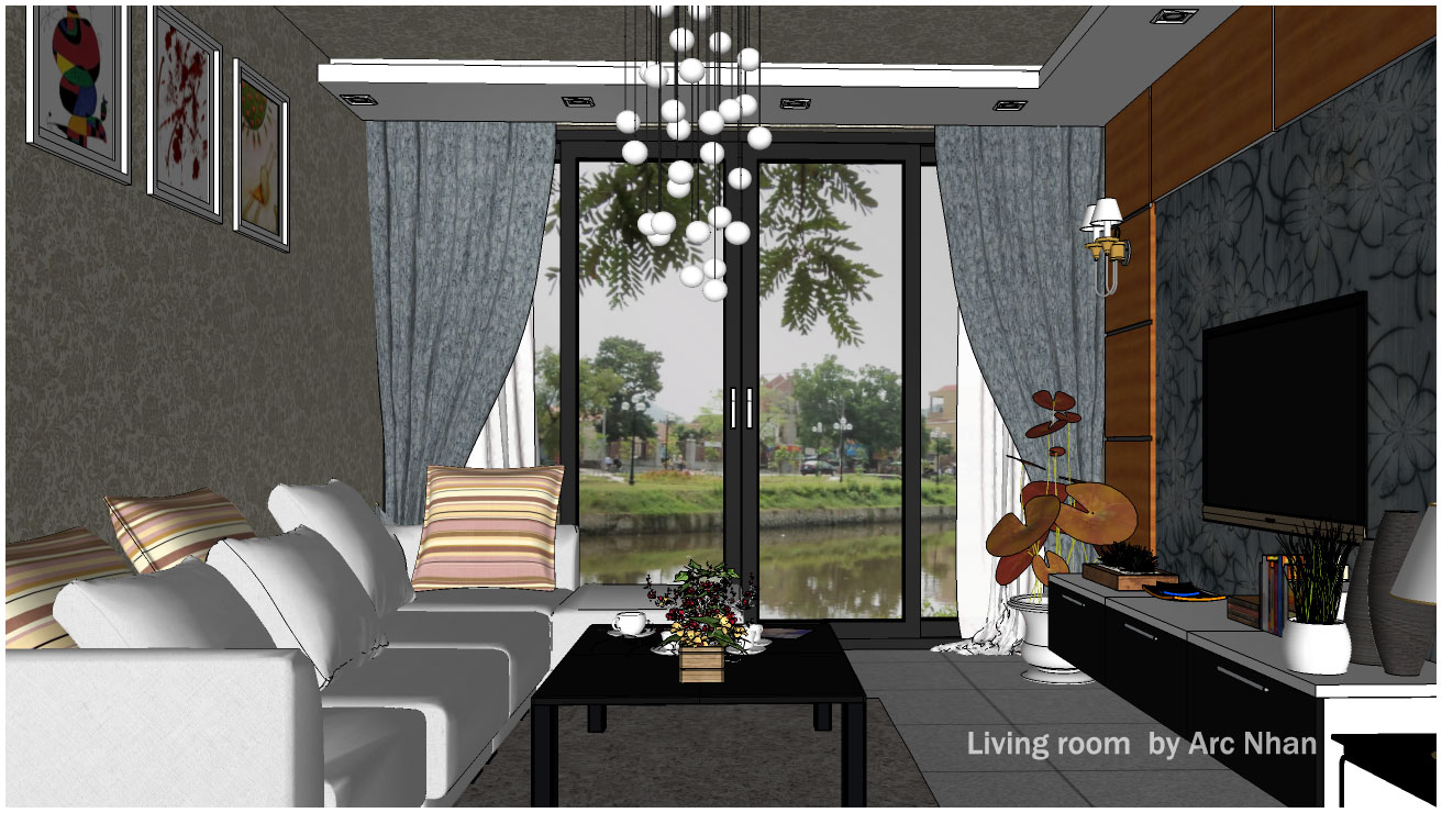 Sketchup Models Living Room #3