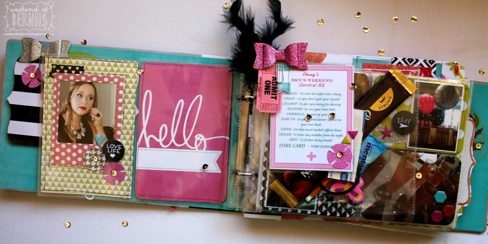 Bride to be Mini Album by Bernii Miller using the Heidi Swapp Favourite things collection.