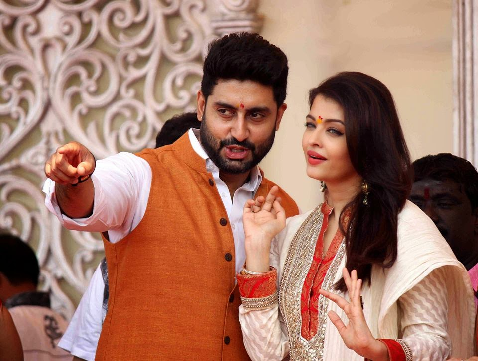 Abhishek and Aishwarya Rai during a Gudi Padwa celebrations photos