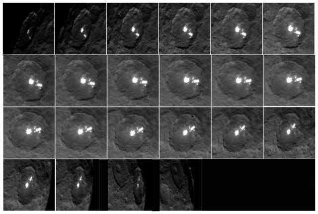 Ceres' White Spots Multiply in Latest Dawn Photos