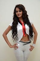 Shanvi in cute tight leggings and Lovely White Top and Red Tie