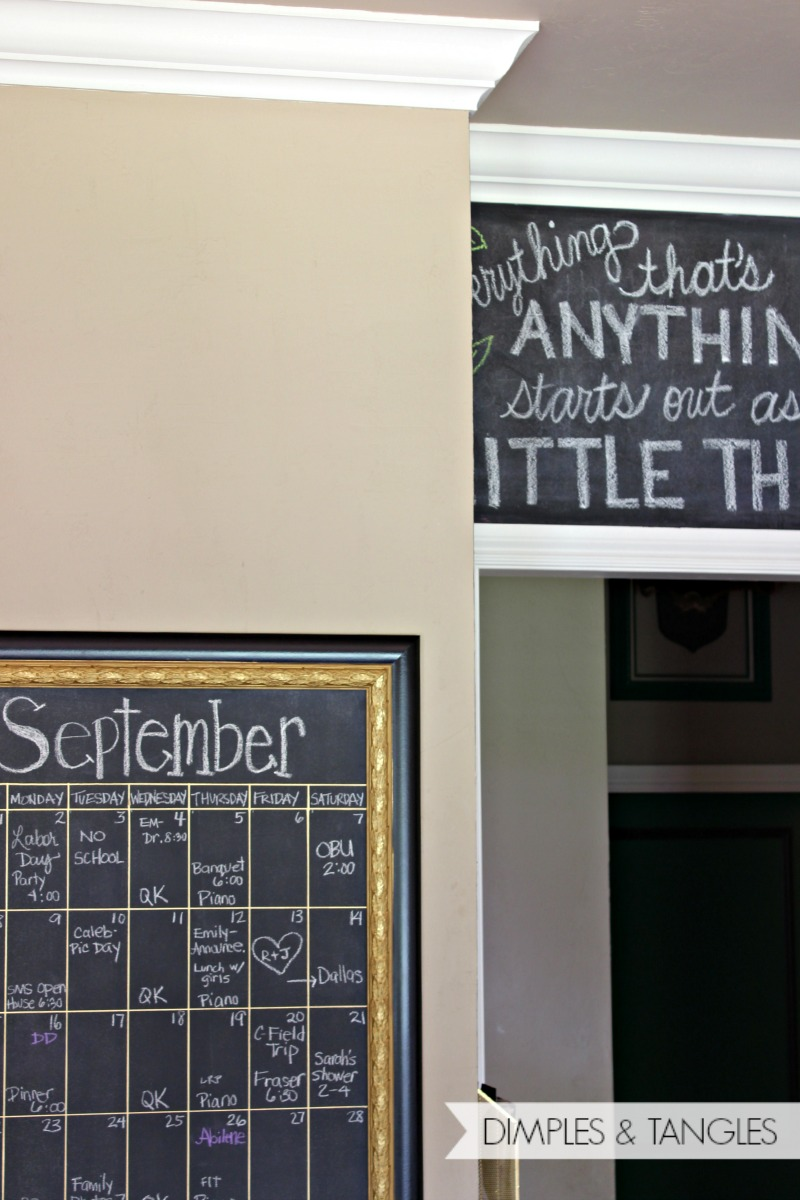 DIY OVERSIZED CHALKBOARD CALENDAR - Dimples and Tangles