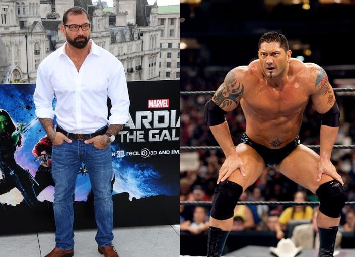 El gran Batista también participo en en artes marciales al estilo de UFC y uno más que ah grabado cintas