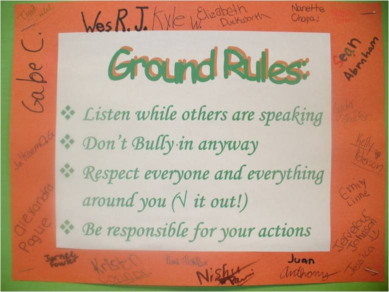 teacher and learner imposed ground rules