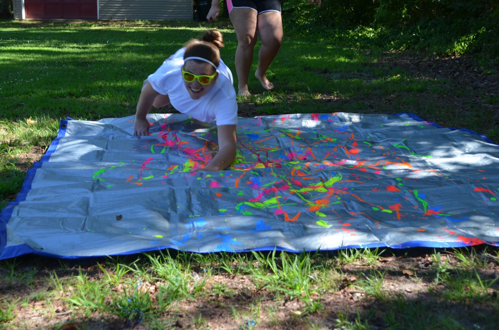 how to make a paint slip n slide