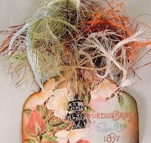 vervolg vintage roos + bedeltje oud maken met copic marker