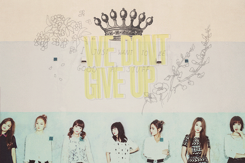 "T-ARA FANART PIC ""We Don't Give Up"""