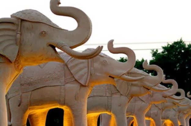 The controversial elephant statues at the Rashtriya Dalit Prerna Sthal