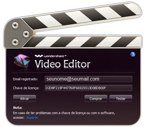 Wondershare Video Editor - como activar