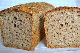 Chleb orkiszowy razowy z białą kaszą gryczaną