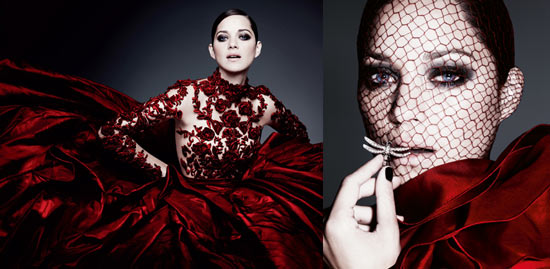 Marion Cotillard in Harper's Bazaar UK, December 2012