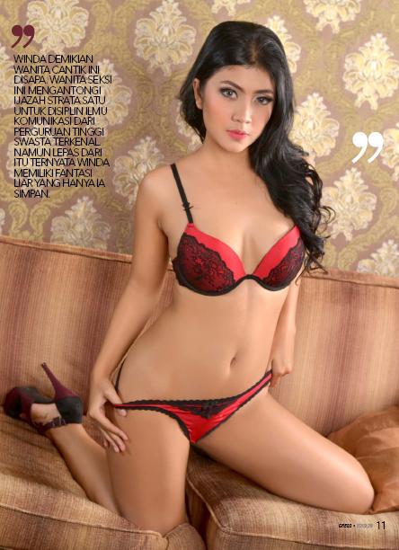 Hot Photo Winda Kakurabe Red Lingerie Sexy