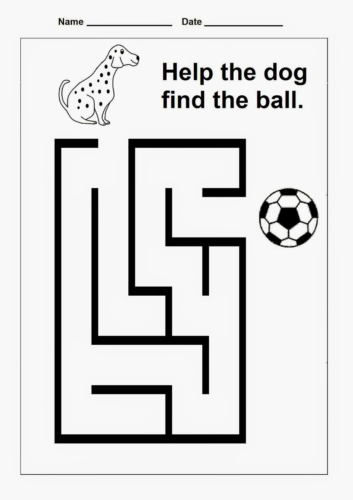 Easy Mazes for Kindergarten - Bing images