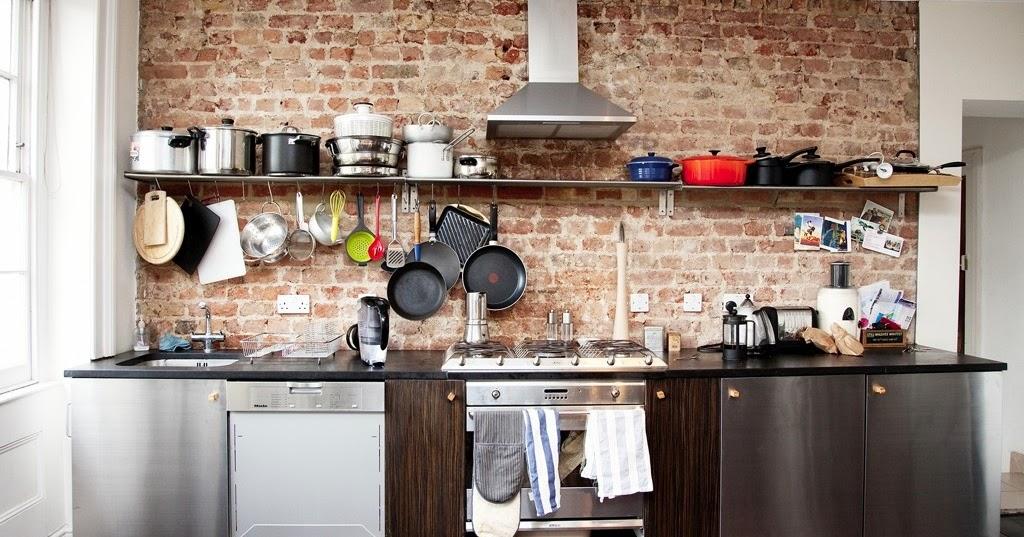 Id es de conception des murs de cuisine en briques d cor for Idee mur cuisine