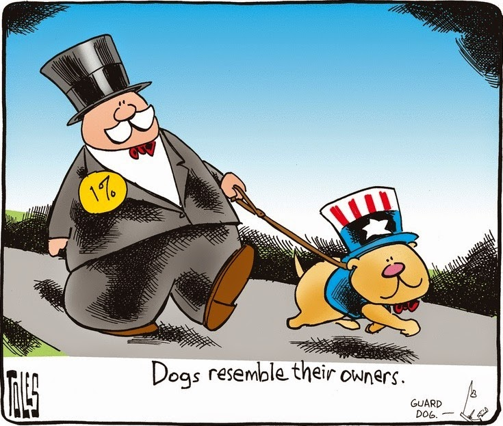 Tom Toles: Dogs resemble their owners.