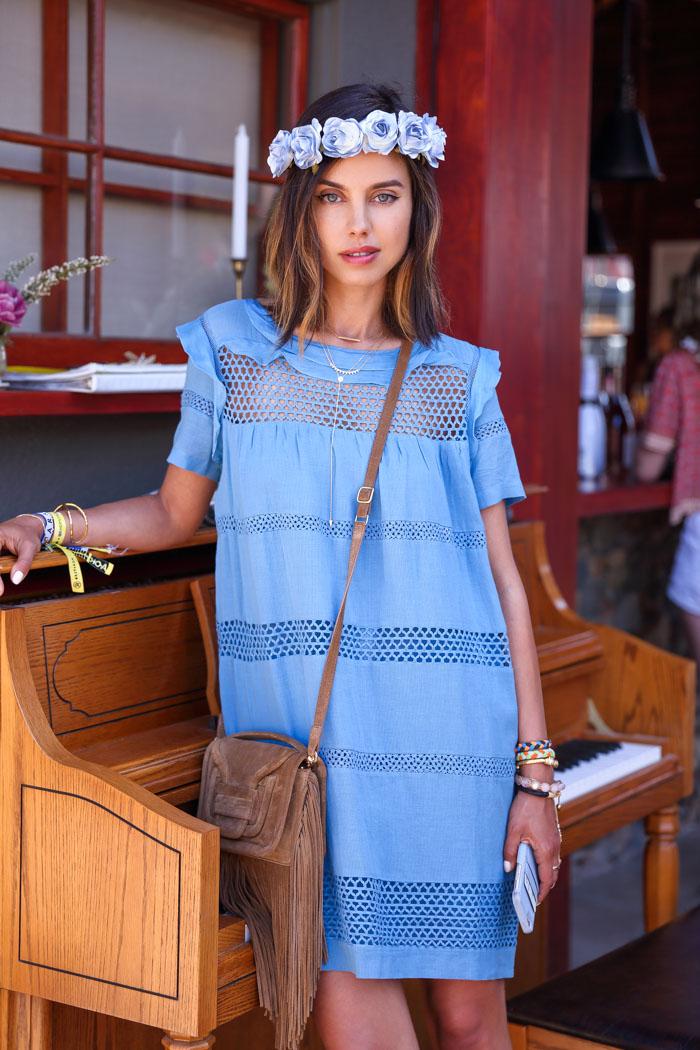 ETOILE ISABEL MARANT Caleen cotton blend voile dress