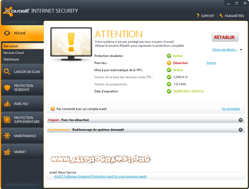 Avast Internet Security 7.0.1466 + Key Valid Until 2013