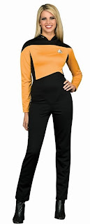 Star Trek Next Generation GoldJumpsuit Deluxe Adult Costume
