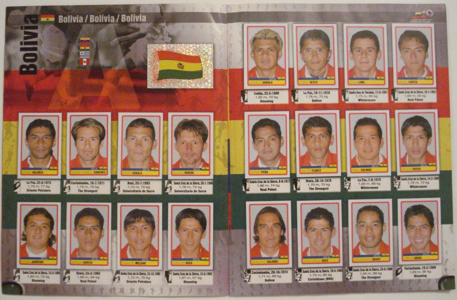3 de 3 Chile no 184 Panini Copa América Venezuela 2007-equipo de Chile