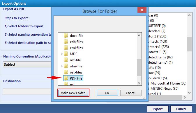 convert pst to pdf files